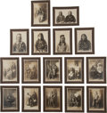 Photographs, SIXTEEN STUDIO PORTRAITS OF CROW INDIANS, SILVER GELATIN PRINTS MOUNTED ON BOARD, BAUMGARTNER STUDIO, BILLINGS, MONTANA, 1909... (Total: 16 )