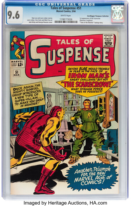 Tales of Suspense #51 Don/Maggie Thompson Collection pedigree (Marvel, 1964) CGC NM+ 9.6 White pages....