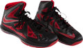 Basketball Collectibles:Others, DeMar DeRozan Game Worn, Signed Shoes....