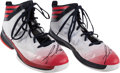 Basketball Collectibles:Others, Josh Smith Game Worn, Signed Shoes....