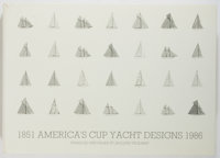Francois Chevalier and Jacques Taglang. SIGNED/LIMITED. America's Cup Yacht Designs: 1851-1986