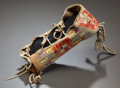 American Indian Art:Beadwork and Quillwork, A SIOUX QUILLED BUFFALO HIDE MODEL BABY CARRIER. c. 1880...