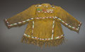 American Indian Art:Beadwork and Quillwork, A SIOUX BOY'S BEADED HIDE JACKET. c. 1900...