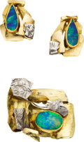 Estate Jewelry:Suites, Black Opal, Gold Jewelry Suite, Joniye. ...