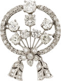 Estate Jewelry:Brooches - Pins, Diamond, Platinum Brooch. ...