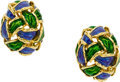 Estate Jewelry:Earrings, Enamel, Gold Earrings, Tiffany & Co.. ...