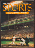 Baseball Collectibles:Publications, 1954 Sports Illustrated First Issue - With Leather Folder and COA....