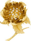Estate Jewelry:Brooches - Pins, Diamond, Gold Brooch, Hammerman Bros.. ...