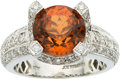 Estate Jewelry:Rings, Garnet, Diamond, White Gold Ring, Joe Malamed. ...