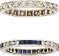 Estate Jewelry:Purses, Sapphire, Diamond, Platinum Eternity Bands. ...