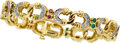 Estate Jewelry:Bracelets, Diamond, Multi-Stone, Gold Bracelet. ...