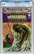 Bronze Age (1970-1979):Horror, Swamp Thing #1 (DC, 1972) CGC NM 9.4 Off-white to white pages....