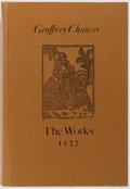 Books:Literature Pre-1900, [Geoffrey Chaucer]. The Works of Geoffrey Chaucer. London:Scolar Press, 1978. Later printing of a facsimile. Publis...