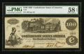 Confederate Notes:1862 Issues, T39 $100 1862 PF-1 Cr. 489.. ...