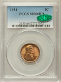 Lincoln Cents, 1934 1C MS66 Red PCGS. CAC. PCGS Population (1358/285). NGC Census:(902/397). Mintage: 219,080,000. Numismedia Wsl. Price ...