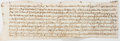 Autographs:Non-American, Partial British Indenture. Vellum. Circa 17th-century.Approximately 17.5 x 5.5 inches, unevenly cut. Beautifulcalligraphy....