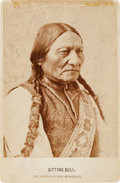 Photography:Cabinet Photos, Sitting Bull: A Classic and Sharply Focused Cabinet Photo....