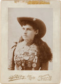 Autographs:Celebrities, Annie Oakley: A Signed Cabinet Photo Taken by Stacy of New York in 1894 or 1895, Showing Annie with Her Medals. ...