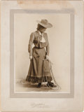 Photography:Studio Portraits, Annie Oakley as Nance Barry: A Silver Gelatin Print from The Western Girl....