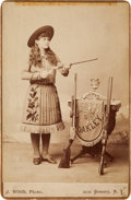 Photography:Cabinet Photos, Annie Oakley: A Detailed and Characteristic Cabinet Photo by A. J.Wood....