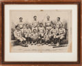 "Baseball Collectibles:Others, 1874 Boston Baseball ""Harper's Weekly"" Illustration...."