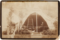 Annie Oakley: A Sensational Cabinet Photograph of Annie in Her Tent in England In 1887, Never Before Published