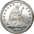 Proof Seated Quarters, 1870 25C PR67 Ultra Cameo NGC. CAC. Briggs 2-B....