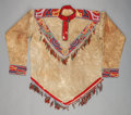 American Indian Art:Beadwork and Quillwork, A TLINGIT MAN'S BEADED HIDE SHIRT. c. 1890...