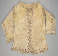 American Indian Art:Beadwork and Quillwork, A NORTHERN PLAINS FRINGED HIDE SCOUT JACKET. c. 1890...