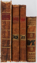 Books:Literature Pre-1900, [Lawrence Washington]. Four miscellaneous volumes of literature, including two volumes from Rousseau, Emilius and Sophia... (Total: 4 Items)