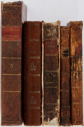 Books:World History, [Lawrence Washington]. Five miscellaneous volumes from the collection of Lawrence Washington. including: Anderson's Hist... (Total: 5 Items)