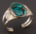 American Indian Art:Jewelry and Silverwork, A COCHITI GOLD AND TURQUOISE BRACELET. Joe H. Quintana. c. 1965 ...