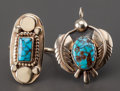 American Indian Art:Jewelry and Silverwork, TWO COCHITI GOLD AND TURQUOISE JEWELRY ITEMS . Joe H. Quintana. c.1965... (Total: 2 Items)