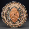 American Indian Art:Baskets, A HOPI POLYCHROME TWINED PLAQUE...