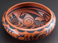 American Indian Art:Pottery, A HOPI BLACK-ON-RED BOWL...