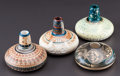 American Indian Art:Pottery, FOUR NAVAJO OR UTE POLYCHROME SEED JARS. ... (Total: 4 Items)