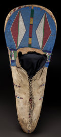 American Indian Art:Beadwork and Quillwork, A PLATEAU BEADED HIDE CRADLEBOARD. c. 1880...