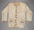 American Indian Art:Beadwork and Quillwork, A PLAINS MAN'S BEADED HIDE JACKET. c. 1910...
