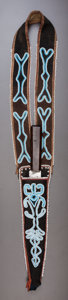 American Indian Art:Beadwork and Quillwork, A TAHLTAN BEADED CLOTH KNIFE CASE AND KNIFE. c. 1870... (Total: 2Items)