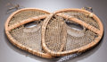 American Indian Art:Wood Sculpture, A PAIR OF CREE CHILD'S SNOW SHOES. c. 1900...