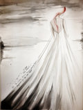 Decorative Prints, American:Prints, Khanh Nguyen Original Sketch. Benefiting The Dallas Opera. ...