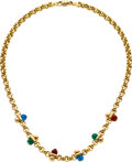 Estate Jewelry:Necklaces, Chalcedony, Gold Necklace. ...