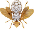 Estate Jewelry:Brooches - Pins, Diamond, Ruby, Gold Brooch, Rosenthal. ...