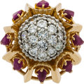 Estate Jewelry:Rings, Diamond, Ruby, Gold Ring, Linz, French. ...