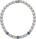 Estate Jewelry:Necklaces, Tanzanite, Diamond, White Gold Necklace. ...