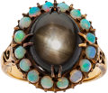 Estate Jewelry:Rings, Antique Star Sapphire, Opal, Gold Ring . ...