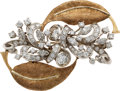 Estate Jewelry:Brooches - Pins, Diamond, Platinum, Gold Brooch. ...