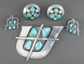 American Indian Art:Jewelry and Silverwork, THREE SOUTHWEST SILVER AND TURQUOISE JEWELRY ITEMS. Frank Patania .c. 1965... (Total: 3 Items)