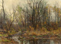 Fine Art - Painting, American:Other , HUGH BOLTON JONES (American, 1848-1927). A Berkshire Brook inAutumn. Oil on canvas. 20 x 27 inches (50.8 x 68.6 cm). Si...