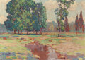 Fine Art - Painting, American:Modern  (1900 1949)  , GUSTAVE CIMIOTTI (American, 1875-1969). The Brook, NearCaldwell, New Jersey, circa 1930. Oil on artists' board. 7-1/2x...